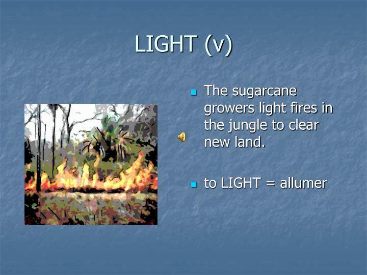 LIGHT (v)