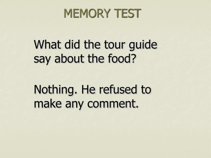 MEMORY TEST