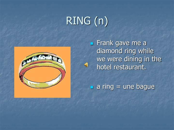 RING (n)