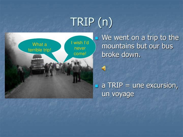TRIP (n)