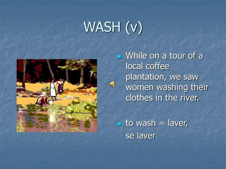 WASH (v)