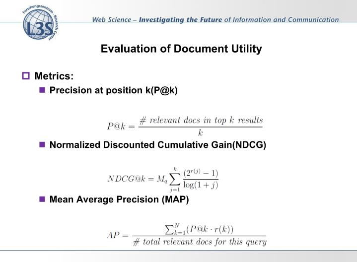 Evaluation of Document Utility