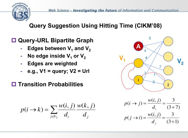 Query Suggestion Using Hitting Time (CIKM'08)