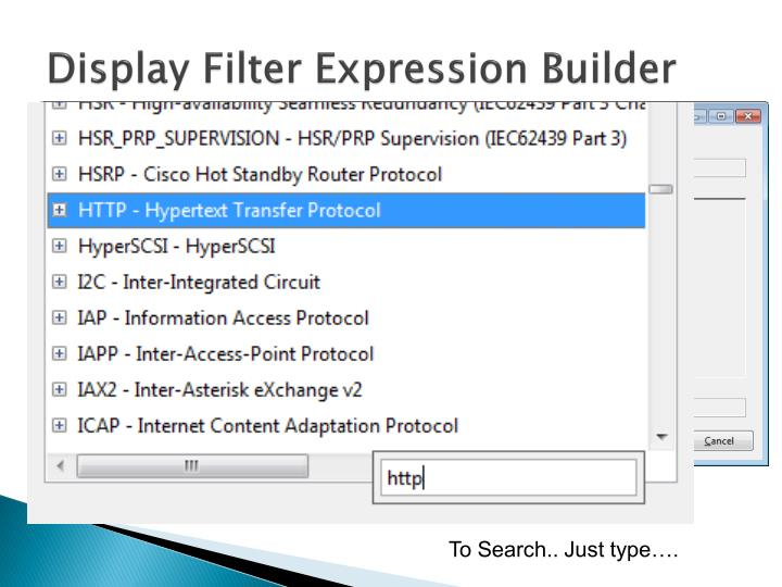 Display Filter Expression Builder