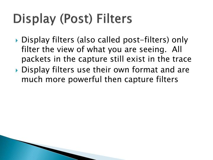Display (Post) Filters