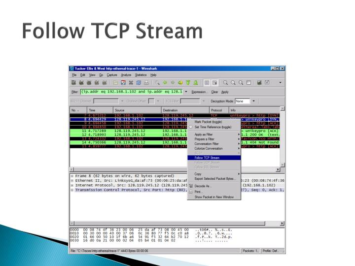 Follow TCP Stream