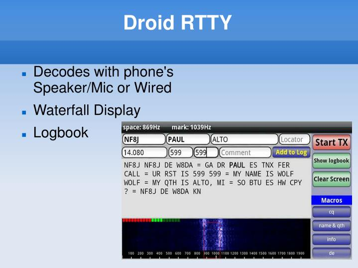Droid RTTY