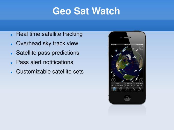 Geo Sat Watch