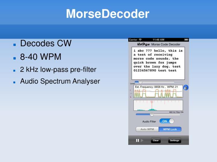 MorseDecoder