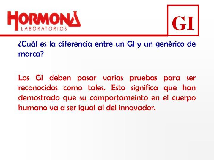 ¿Cuál es la diferencia entre un GI y un genérico de marca?