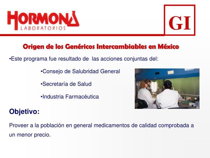 Origen de los Genéricos Intercambiables en México