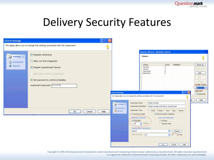 Delivery Security Features