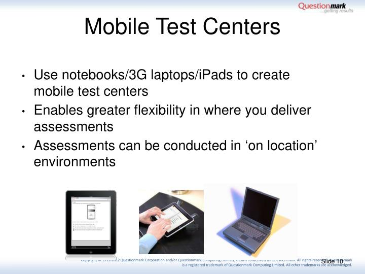Mobile Test Centers