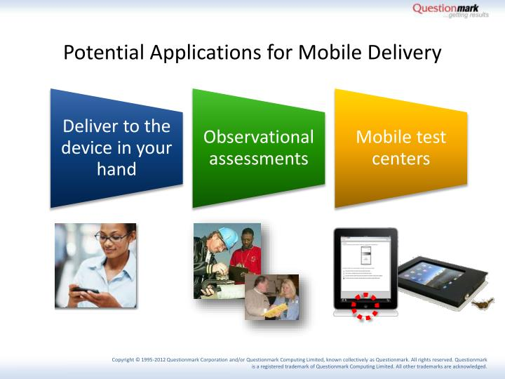 Potential Applications for Mobile Delivery