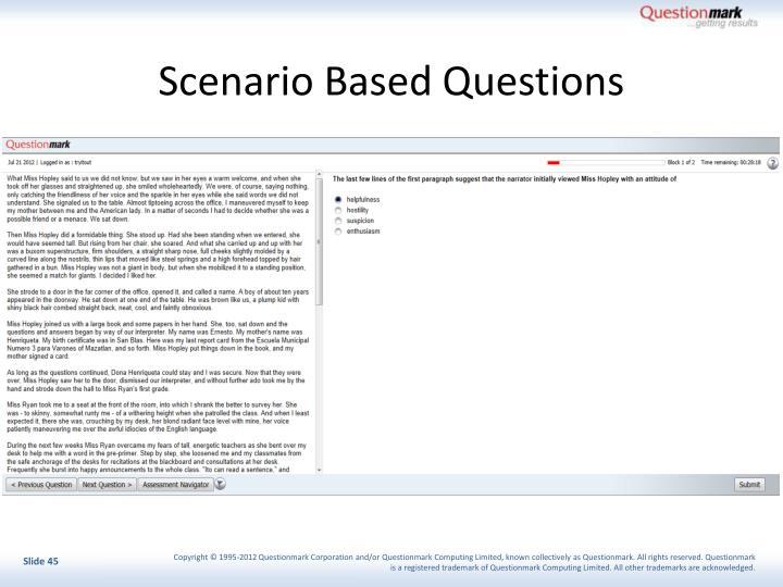 Scenario Based Questions