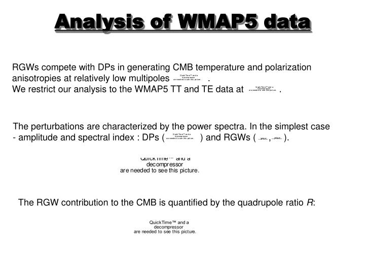 RGWs compete with DPs in generating CMB temperature and polarization anisotropies at relatively low multipoles               .