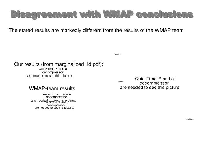 Our results (from marginalized 1d pdf):