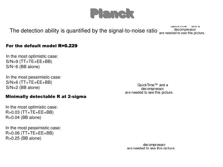 The detection ability is quantified by the signal-to-noise ratio