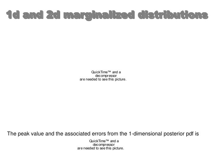 1d and 2d marginalized distributions