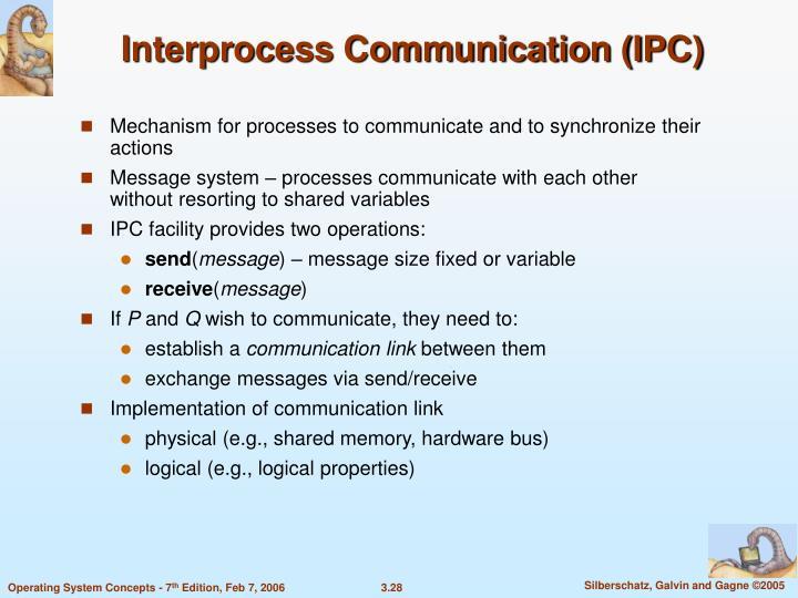 Interprocess Communication (IPC)