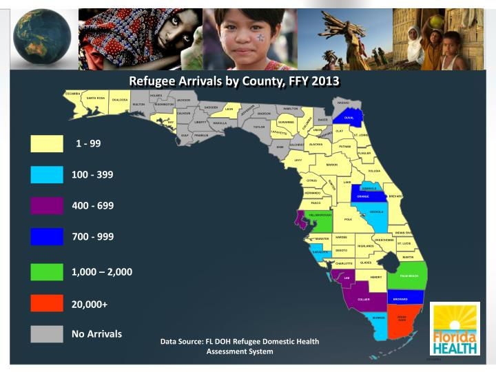 Refugee Arrivals by County, FFY 2013