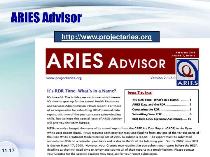 ARIES Advisor