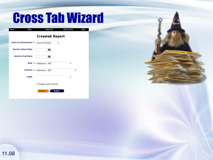 Cross Tab Wizard