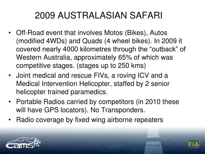 2009 AUSTRALASIAN SAFARI