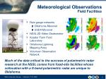 meteorological observations field facilities