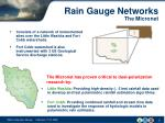 rain gauge networks the micronet