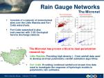rain gauge networks the micronet1