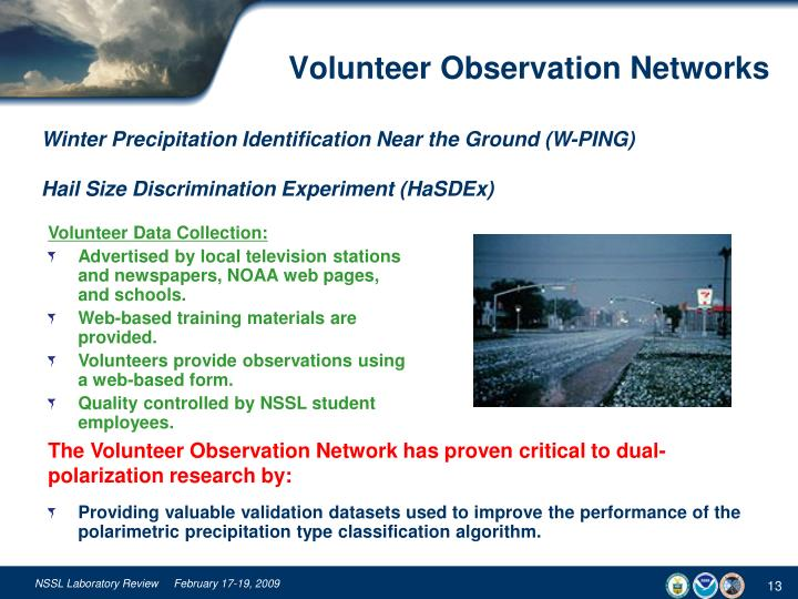 Volunteer Observation Networks