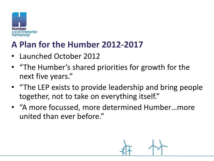 A Plan for the Humber 2012-2017