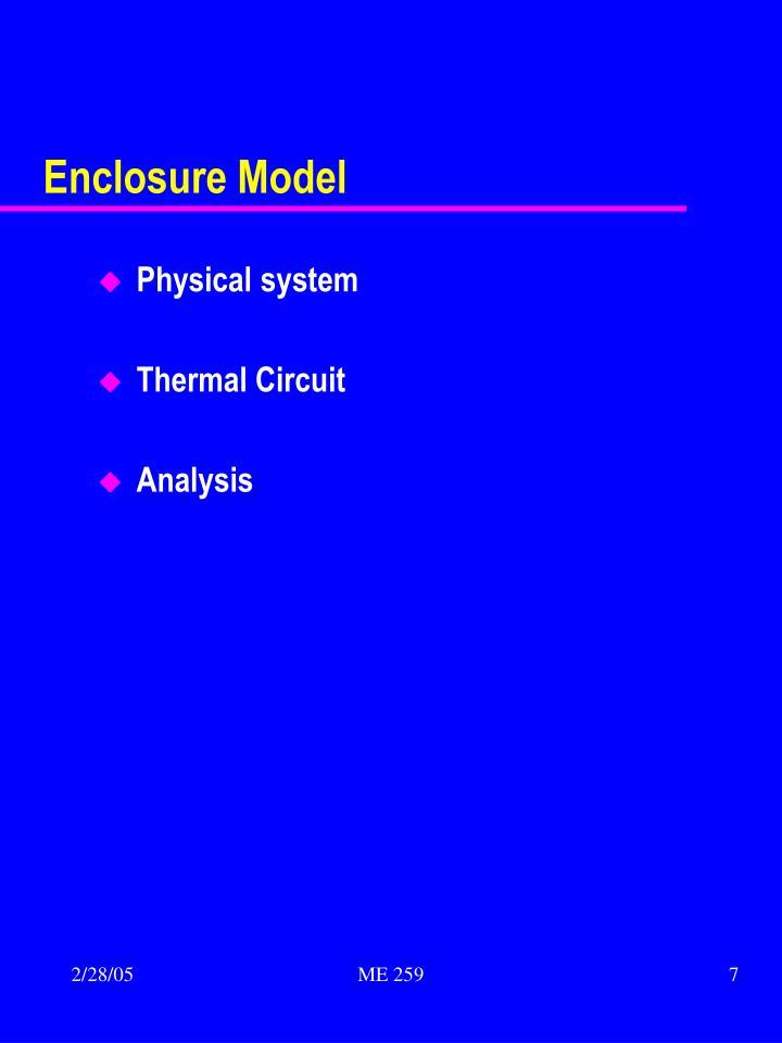 Enclosure Model