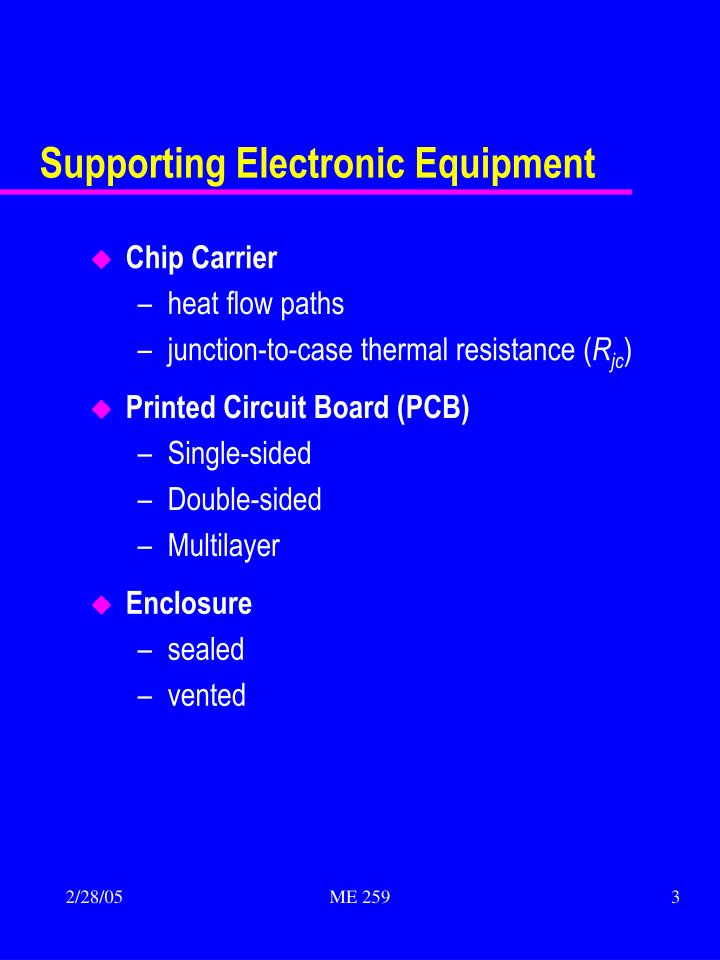 Supporting Electronic Equipment