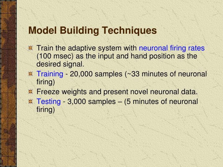 Model Building Techniques