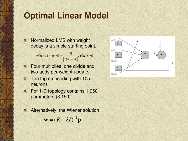 Optimal Linear Model