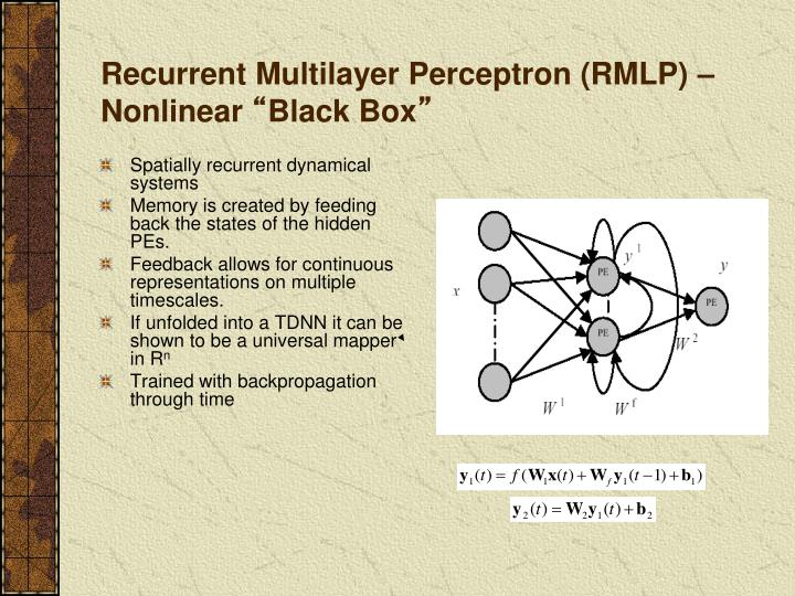 Recurrent Multilayer Perceptron (RMLP) – Nonlinear