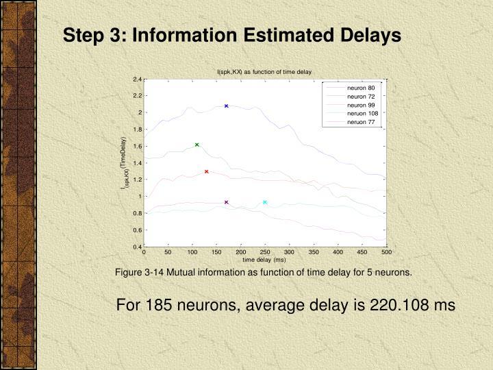 Step 3: Information Estimated Delays