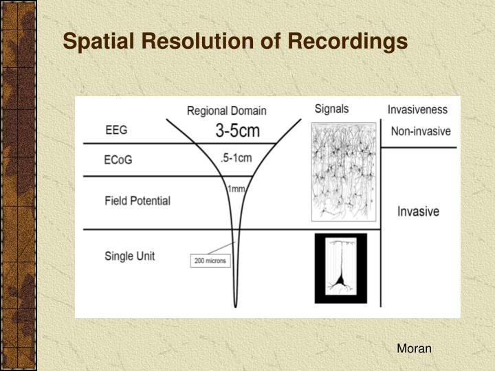 Spatial Resolution of Recordings