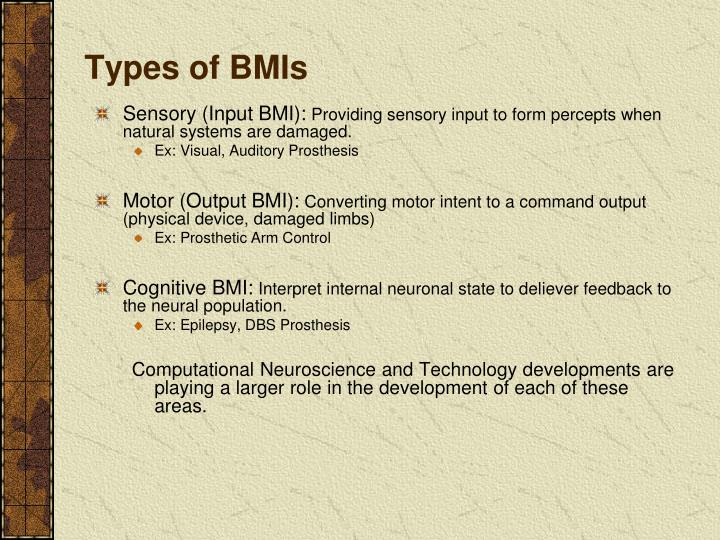 Types of BMIs