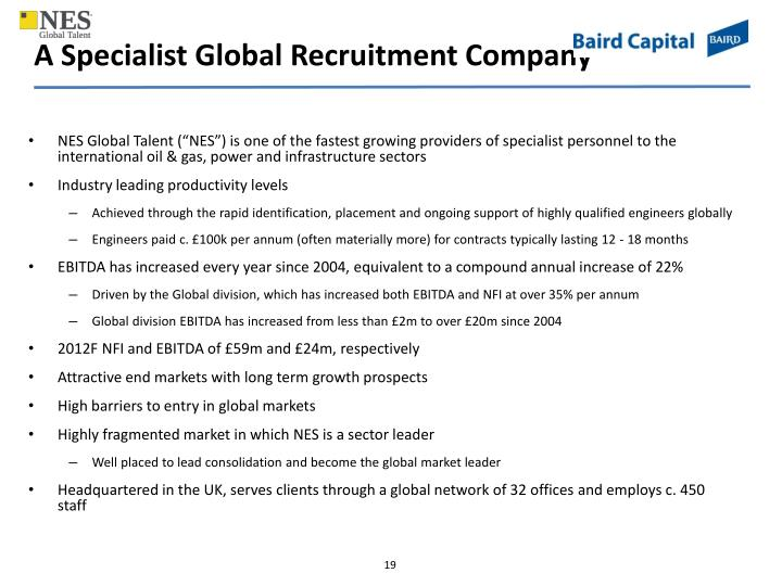 A Specialist Global Recruitment Company