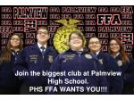 join the biggest club at palmview high school phs ffa wants you