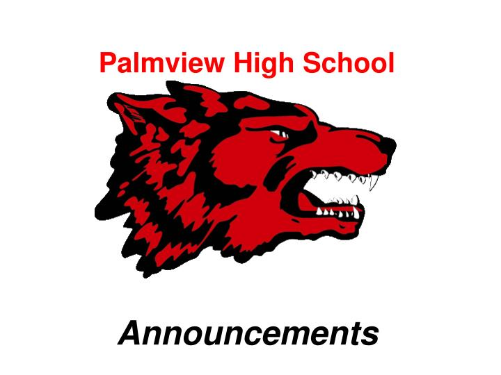 palmview high school announcements