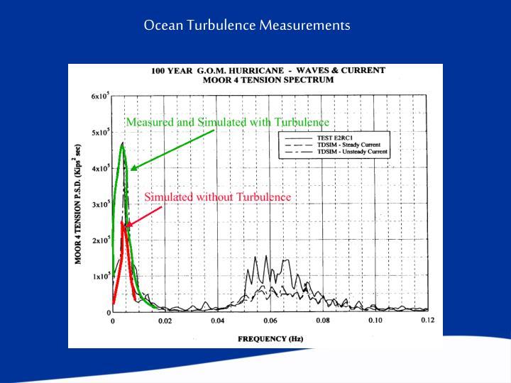 Ocean Turbulence Measurements