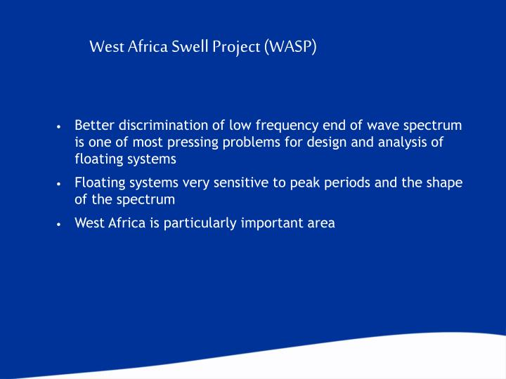 West Africa Swell Project (WASP)