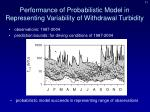 performance of probabilistic model in representing variability of withdrawal turbidity