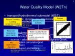 water quality model w2tn