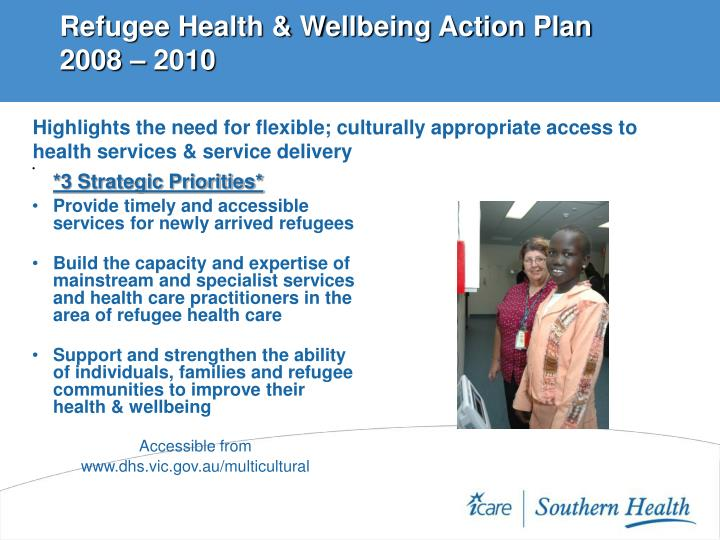 Refugee Health & Wellbeing Action Plan