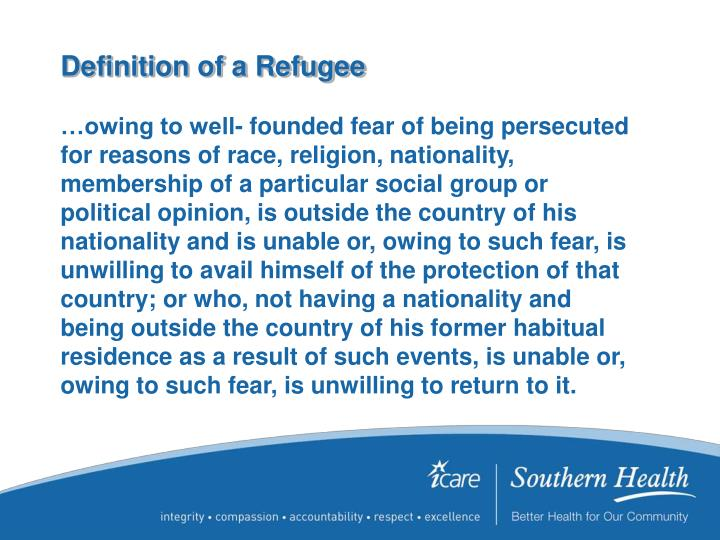 Definition of a Refugee